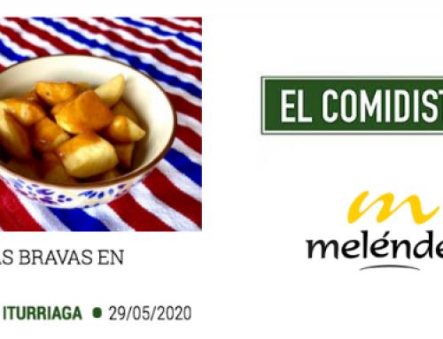La patata nueva de Patatas Meléndez, protagonista de una receta en directo de El Comidista