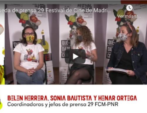 Rueda de prensa por streaming para presentar todos los detalles del Festival de Cine de Madrid FCM-PNR (6 al 18 de octubre de 2020, en Madrid y online)